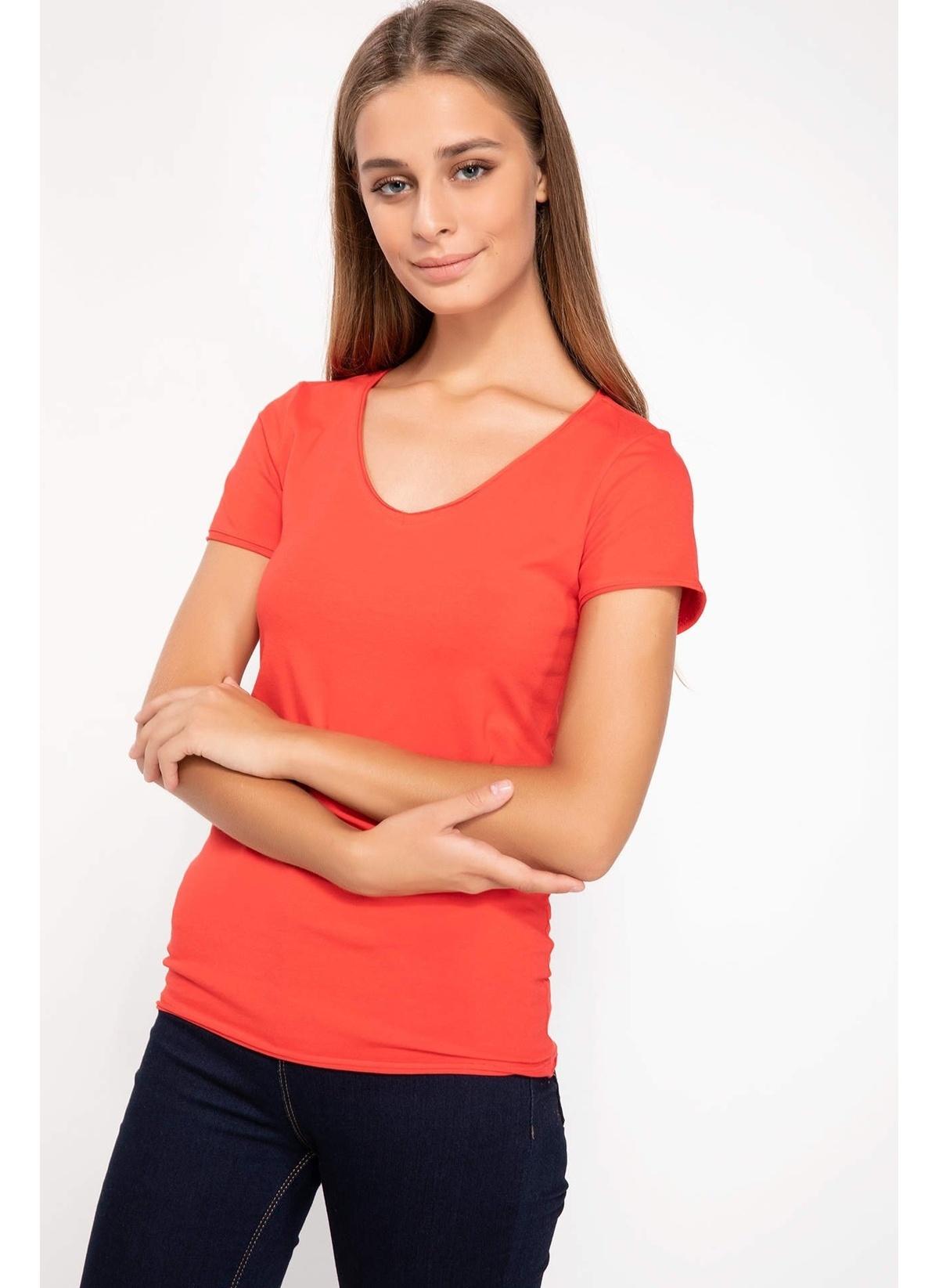 Defacto V Yaka Basic T-shirt I1073az18aurd63t-shirt – 19.99 TL